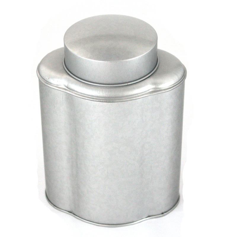 异形福建白茶铁盒包装定制|批发高档磨砂马口铁白茶铁盒