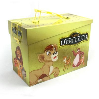 手挽式长方形国产动画片光碟包装盒马口铁盒