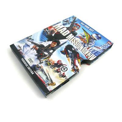 长方形高档马口铁推拉式电影DVD铁盒