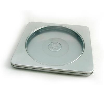 长方形开窗式动感音乐DVD包装盒银光铁铁盒