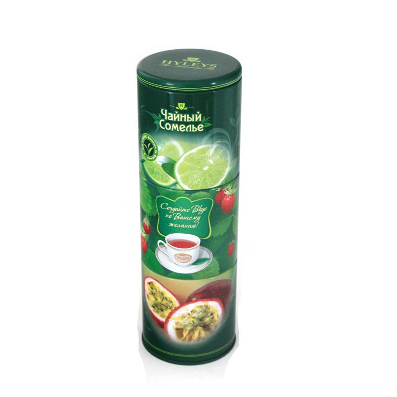 马口铁高档圆形层层果茶茶叶罐定制