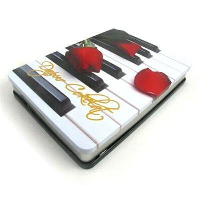 钢琴教学视频DVD光碟包装铁盒马口铁