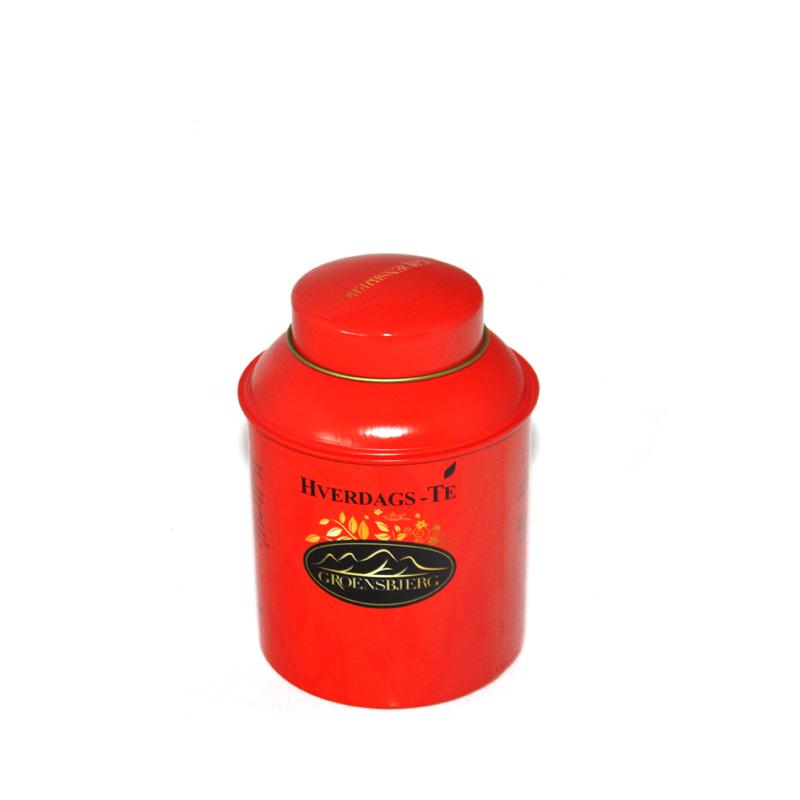 东莞拱盖式花茶铁罐|定制马口铁圆形彩印花茶罐子