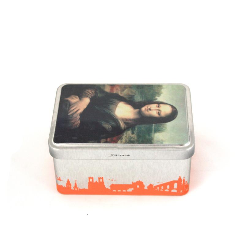 深圳茉莉花茶包装铁盒定制|精品翻盖式茉莉花茶铁盒