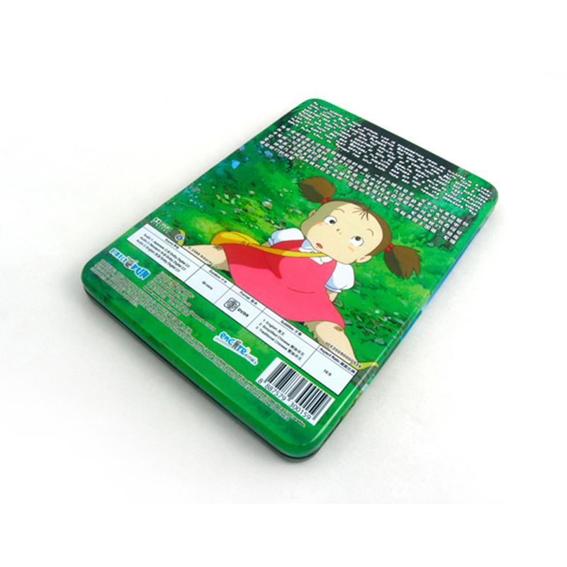 长方形国产动漫电影DVD光碟包装盒马口铁金属盒