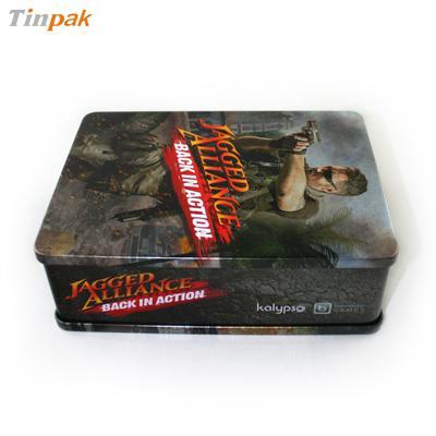 丛林射击系列游戏DVD光碟包装盒马口铁金属盒