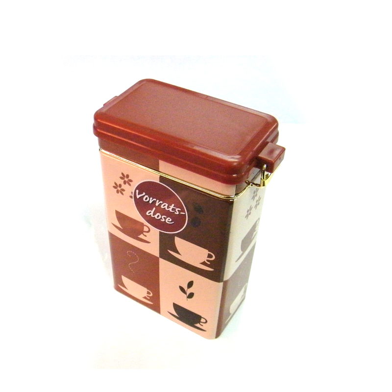 密封式长方形红茶茶叶铁罐定做