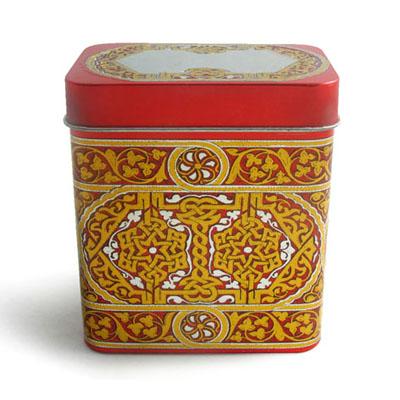 深圳长方形养颜花茶铁盒子|天地盖胶印养颜花茶铁盒包装
