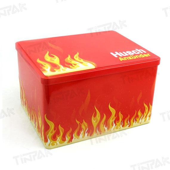 大号长方形花茶包装铁盒 彩印翻盖式花茶铁盒包装