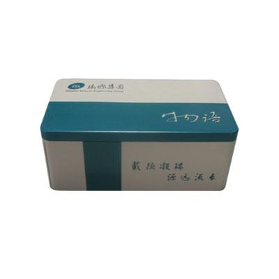 深圳内胆式玫瑰花茶铁盒|精品方形玫瑰花茶铁盒子定制