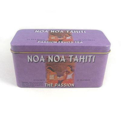 爆款长方形花茶铁盒包装|供应天地盖胶印花茶铁盒子