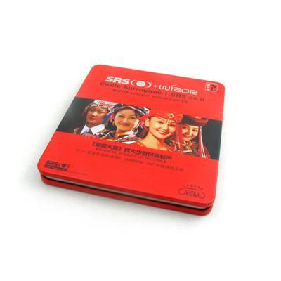 少数民族天籁魅生音乐CD铁盒 高档音乐光碟包装盒定制