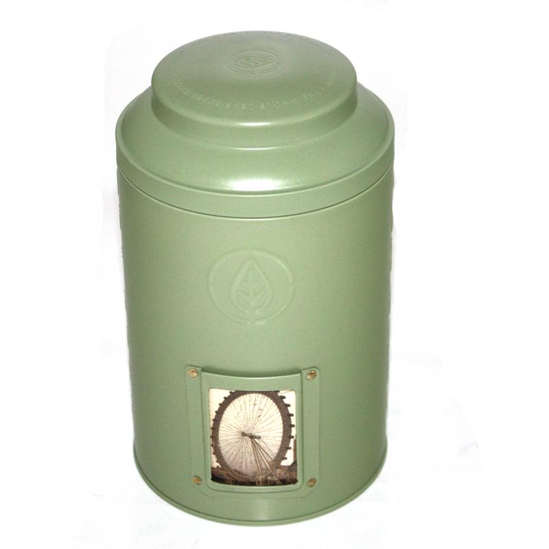 圆筒带激凸天麻马口铁盒|精致彩印天麻铁盒定制批发