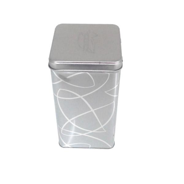 方形翻盖式天麻片铁罐|铁质天麻片罐子定制