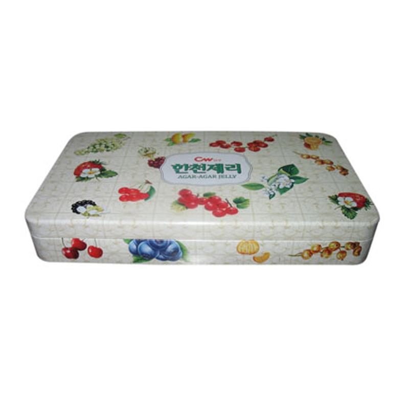 生产休闲热销长方形夹心糖果铁盒 夹心糖果金属盒