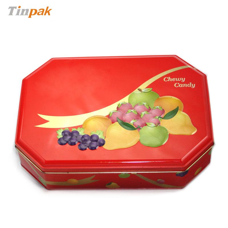 加工生产八角形高档糖果马口铁铁盒厂家