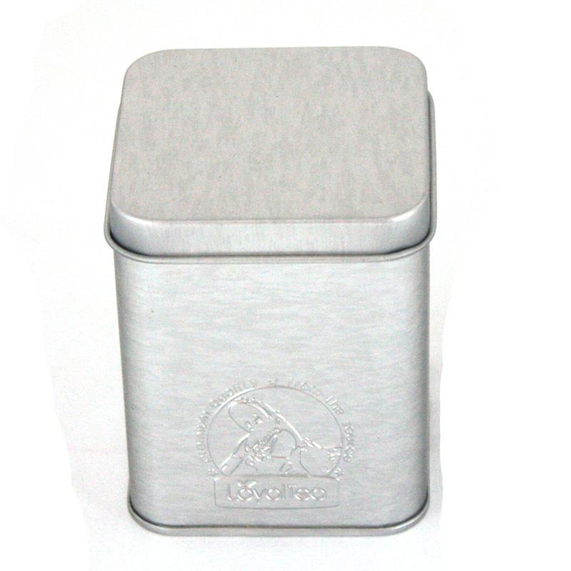 定制生产高档老白茶马口铁包装盒 供应方形带内盖老白茶铁盒子