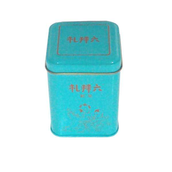 通用款马口铁黑茶盒|方形彩印黑茶铁皮盒子生产基地