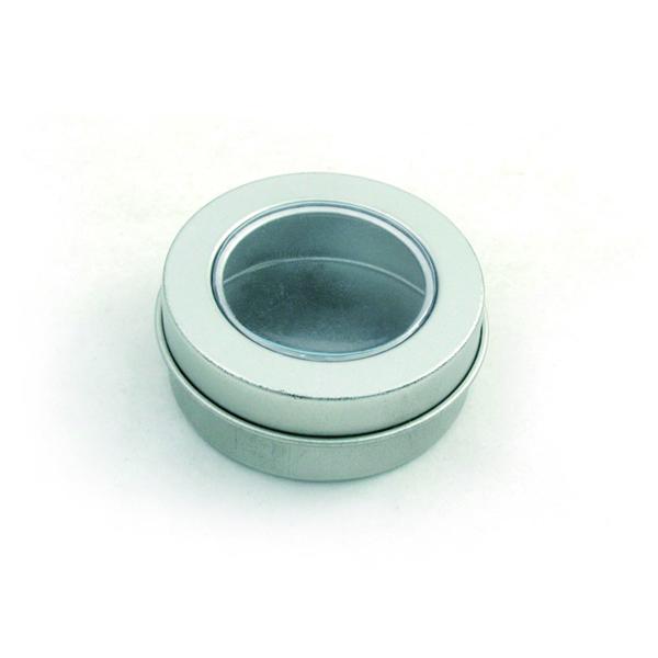 开窗两片圆形面霜铁盒定制 广州面霜铁盒定制厂家