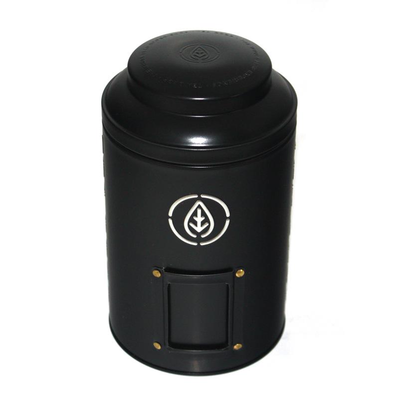 圆筒黑茶茶叶马口铁盒定做厂家