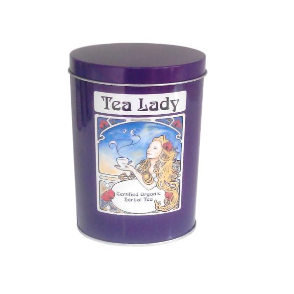 椭圆形白茶茶叶金属铁盒定做