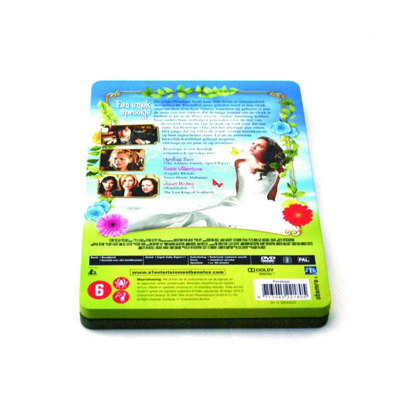 西方浪漫爱情电影DVD光碟包装盒马口铁金属盒
