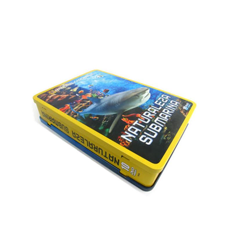 海底世界纪录片DVD包装盒 马口铁海洋生物馆光碟包装盒