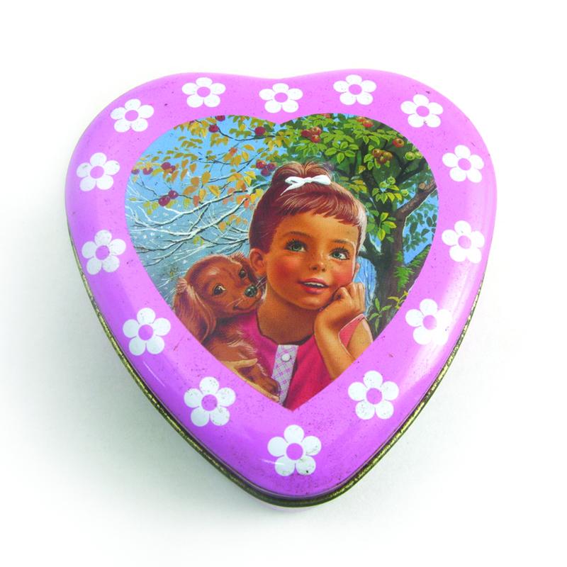 爱心巧克力包装铁盒定制 心形巧克力包装铁皮盒