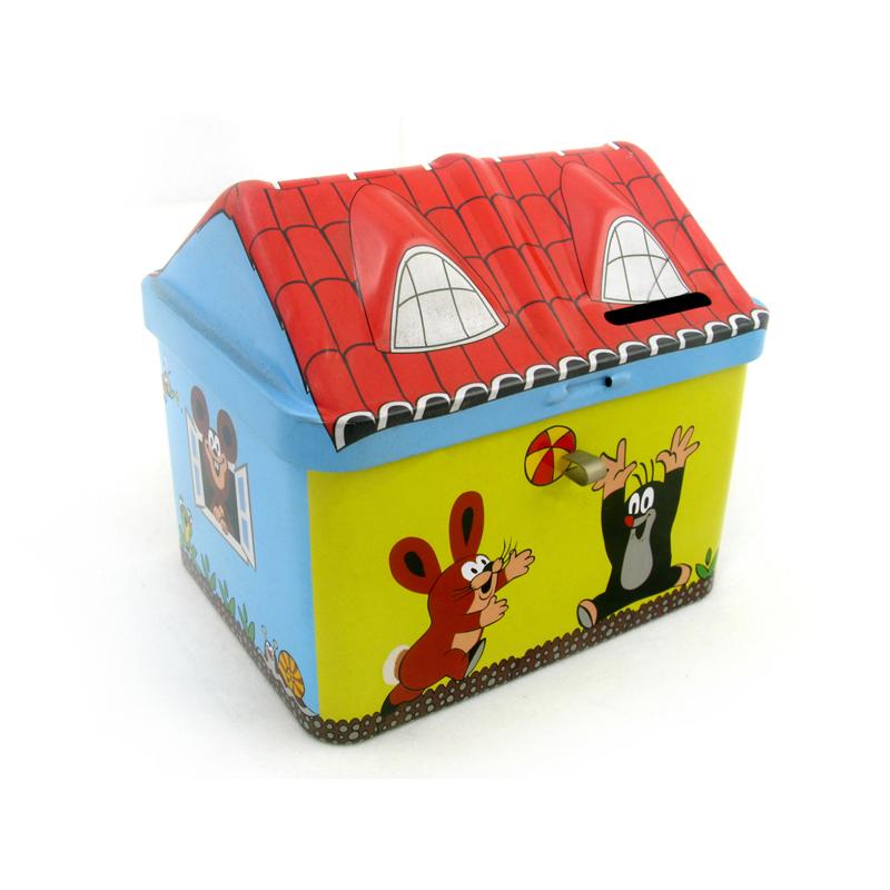 圣诞主题房屋形状包装铁盒 马口铁儿童玩具礼品包装盒