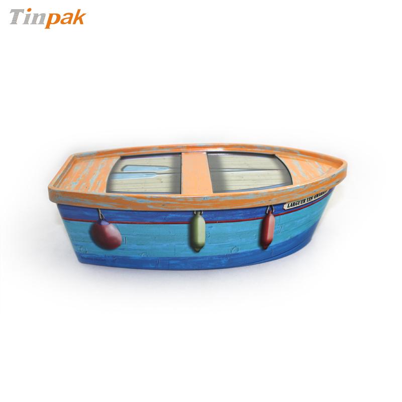 小舟形状马口铁礼品铁盒 创意玩具礼品包装盒铁皮盒