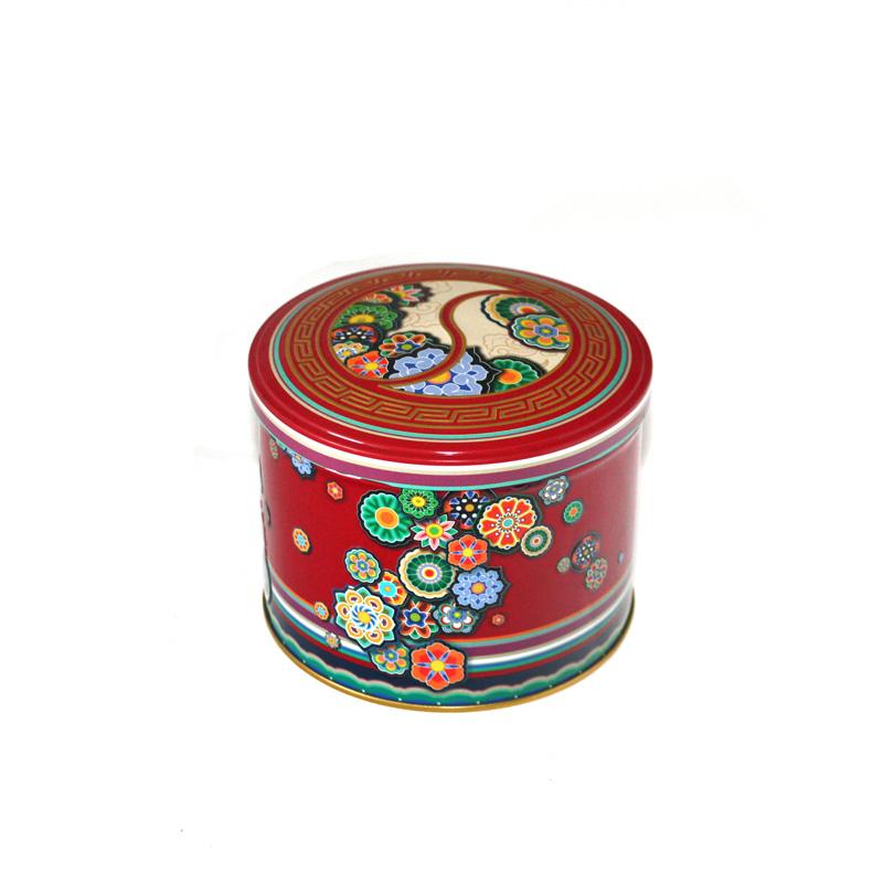 新款圆筒枣片金属铁盒子直销 精美胶印枣片马口铁盒定制