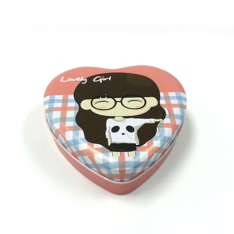 心形礼品包装盒 情人专属礼品包装心形铁盒批发商