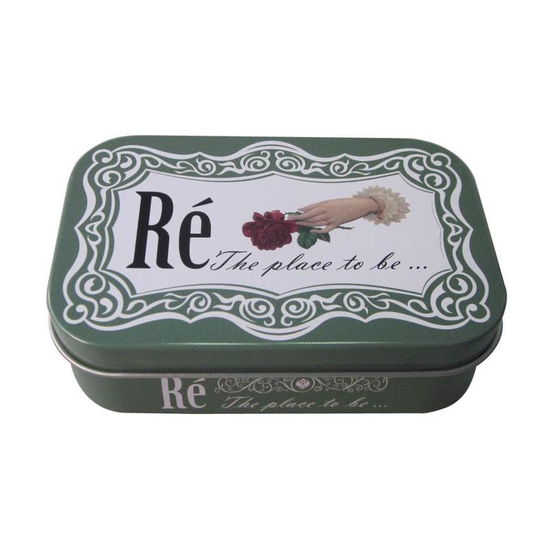 长方形高档进口香皂包装铁盒 手工皂包装铁盒子定制厂家