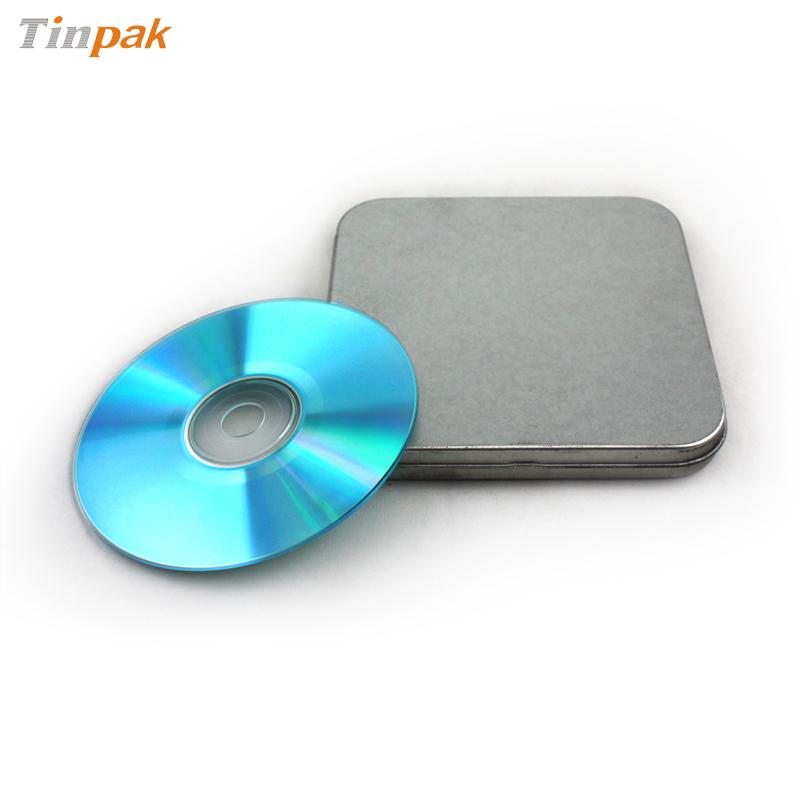 银光铁高档音乐CD包装盒 音乐光碟包装铁盒定制生产