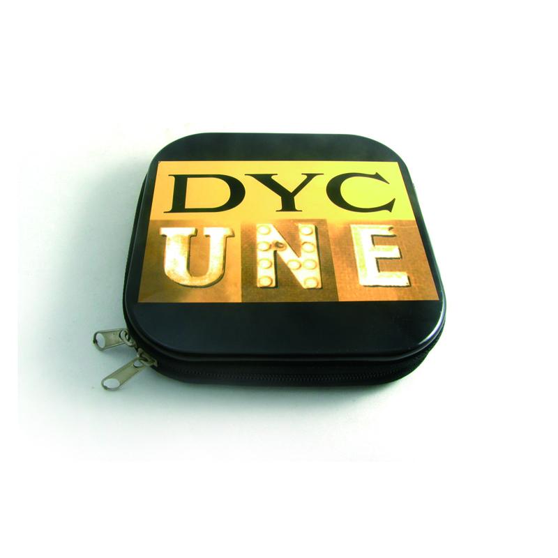 拉链式音乐CD包装铁盒 民族音乐光碟包装铁皮盒