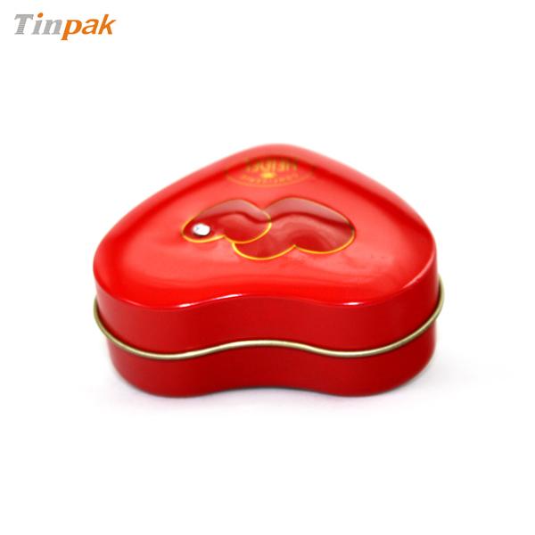 贴钻心形喜糖铁盒定制 通用心形喜糖铁盒