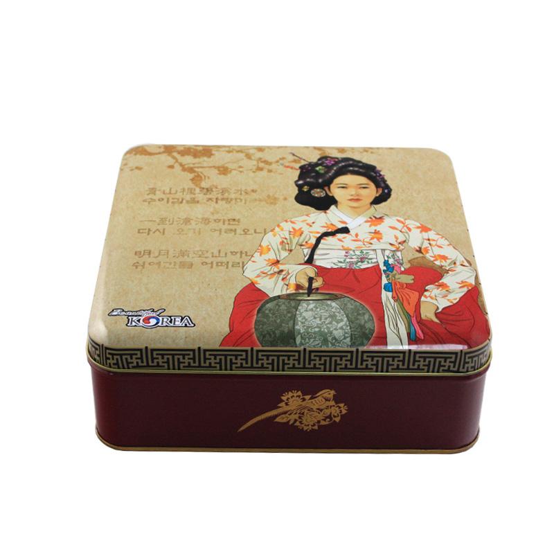方形端午粽子大号铁盒定制 通用款粽子铁盒批发