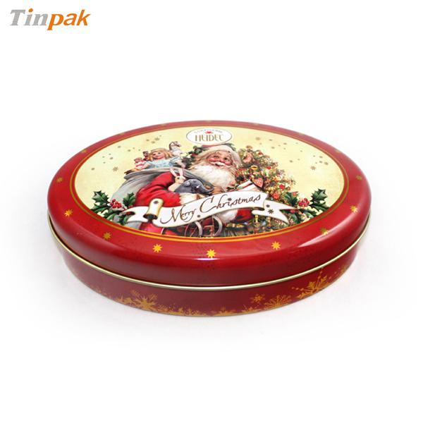 大红色椭圆形喜糖铁盒|精致椭圆形喜糖铁盒