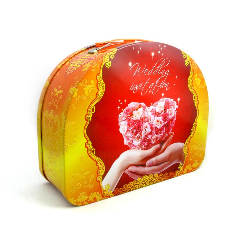 D形新婚礼品包装铁盒|马口铁新婚礼品铁盒