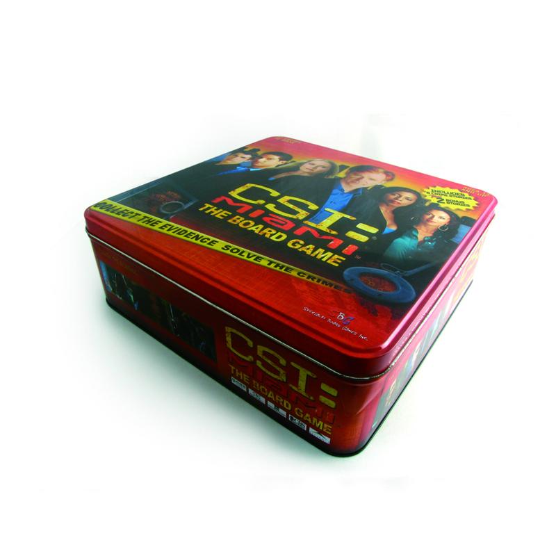 欧美偶像电视剧DVD包装铁盒 热播电视剧光碟包装铁皮盒