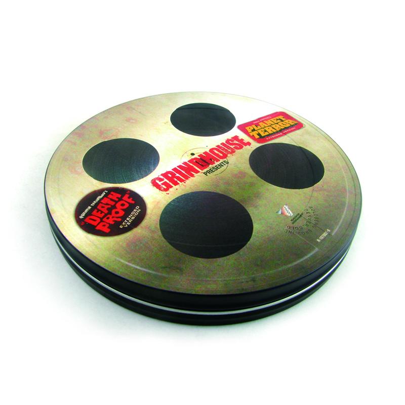创意电影DVD光碟包装铁盒 厂家生产定制金典电影包装铁皮盒