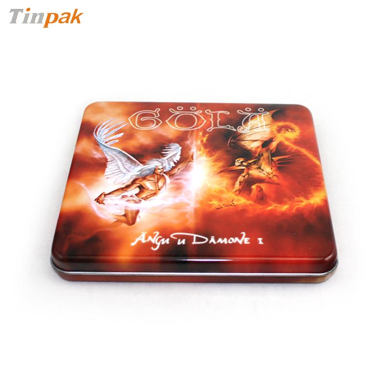 劲爆DJ舞曲音乐CD包装铁盒 网络热播歌曲光碟包装铁皮盒定制