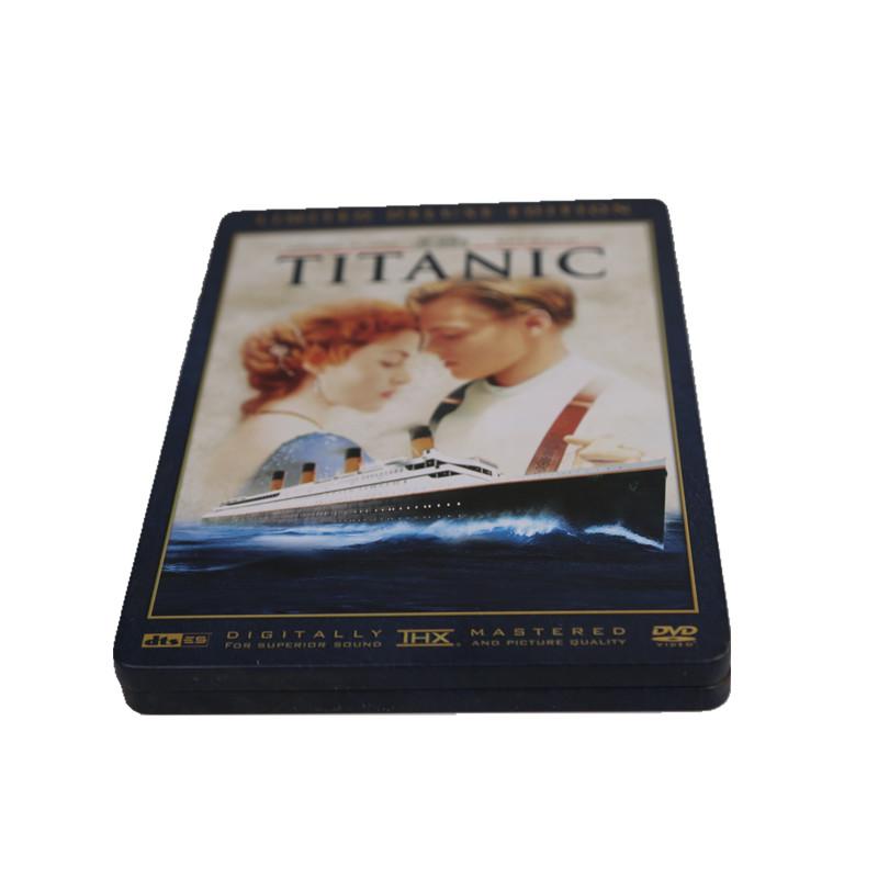 3D版泰坦尼克号DVD光碟包装铁盒 电影光盘包装铁皮盒
