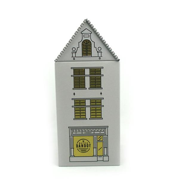 屋子形状马口铁礼品包装盒 定制生产房屋形状包装铁盒礼品盒