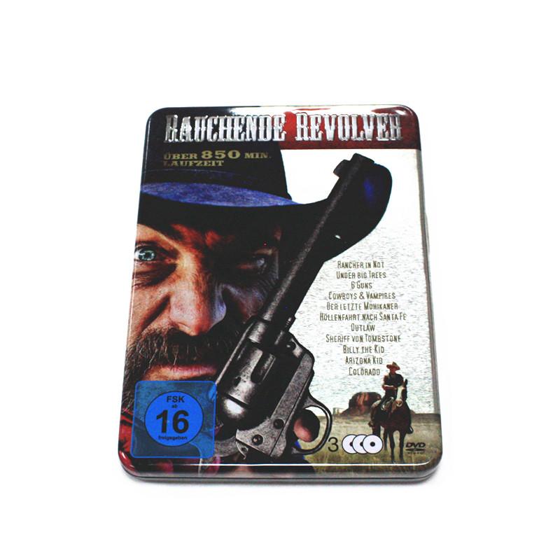 美国枪战系列电影作品光碟包装铁盒 厂家定制DVD光碟包装盒
