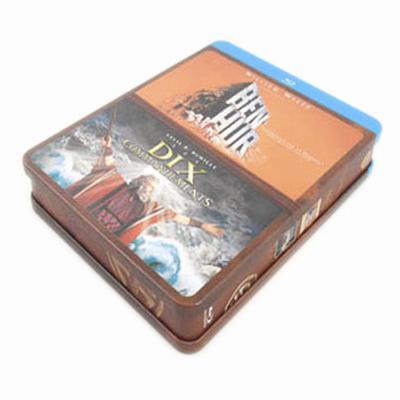 宾虚电影光碟包装马口铁铁盒 欧洲电影DVD光盘包装盒生产厂家