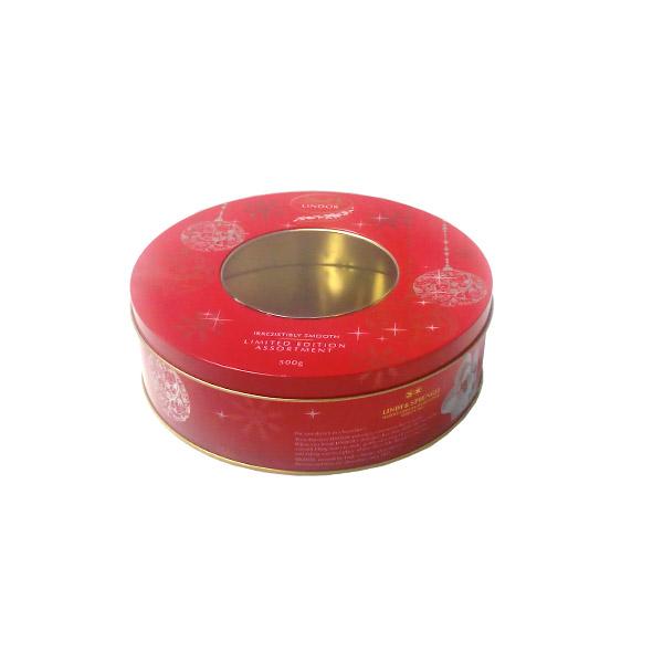 一级圆形湖南黑茶铁盒包装厂家直销 彩印湖南黑茶马口铁盒