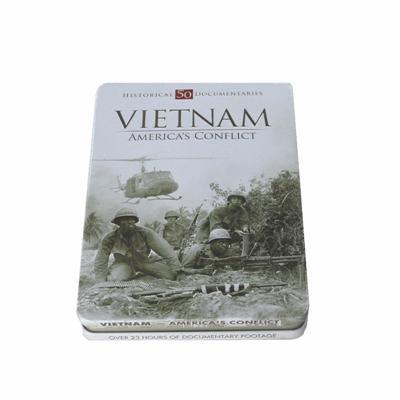 越南战争系列电影光碟包装铁盒 越战电影DVD铁盒厂家