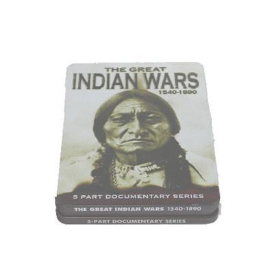 印第安人战争电影DVD包装铁皮盒 战争系列光碟铁盒包装盒