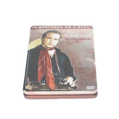 悬疑推理电影光碟包装金属盒 马口铁DVD包装盒铁盒